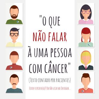 o que não dizer para um paciente com cancer